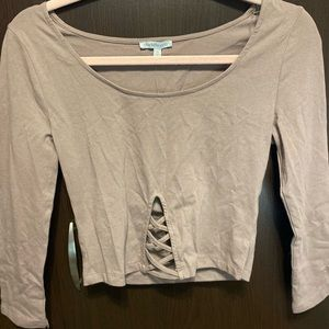 💚3/$10: Charlotte Russe- Night Out Crop, SIZE:S